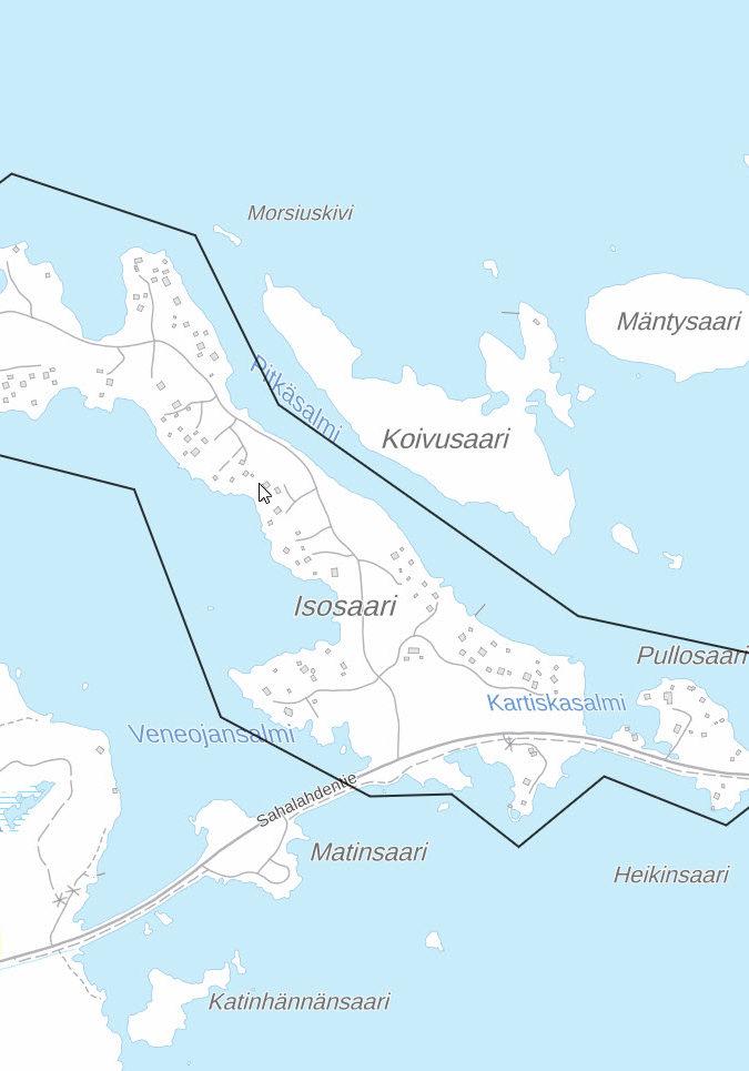 Elenia Kuitu aluekartta