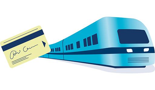 Piirretty kuva junasta